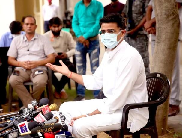 सचिन बोले- बिग ब्रदर वॉचिंग यू जैसा प्राइवेसी उल्लंघन का गंभीर मामला, स्वतंत्र जांच हो; कोरोना में सब ठीक था तो स्वास्थ्य मंत्री को क्यों हटाया?|जयपुर,Jaipur - Dainik Bhaskar