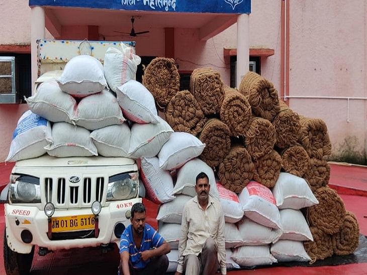 महासमुंदमेंरस्सियों के नीचे छिपाकर ले जा रहे थे 700 किलो गांजा, ओडिशा से बिहार जा रहे 2 तस्कर दबोचे|छत्तीसगढ़,Chhattisgarh - Dainik Bhaskar
