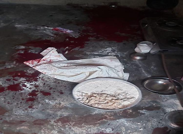 सुबह खाना बनाने के दौरान दोनों में हुई कहासुनी,बेटा बोला- चीख सुनकर उठा तोदेखा पापा चाकू से मम्मी का गला काट रहे थे पाली,Pali - Dainik Bhaskar