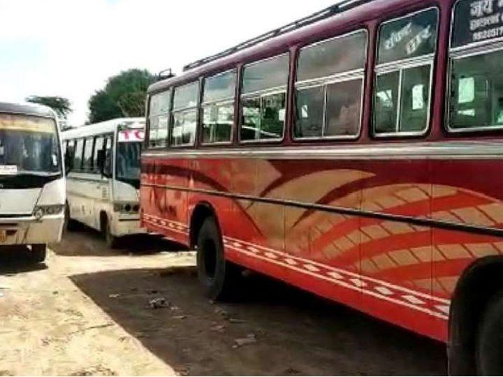 गुरुवार काे निजी बस संचालक हड़ताल करेंगे। डीटीओकाे ज्ञापन देंगे। - Dainik Bhaskar