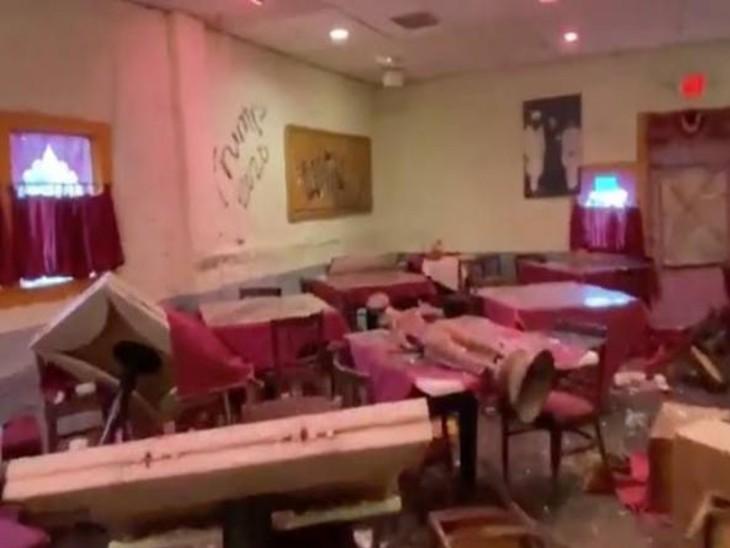 5000 रु. की अवैध मांग पूरी नहीं हुई तो वाइन शॉप व रेस्टाेरेंट में ताेड़फाेड़, हाथ नहीं आए बदमाश|उदयपुर,Udaipur - Dainik Bhaskar