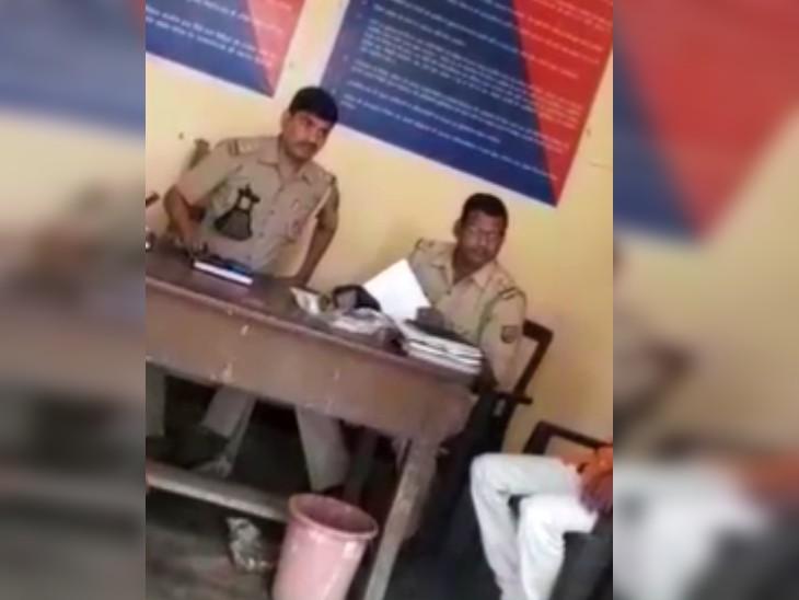 पूछताछ के लिए युवक को थाने बुलाया, बेटे को लेने पहुंचे बुजुर्ग को थानेदार ने दी गालियां; SP ने किया सस्पेंड|लखनऊ,Lucknow - Dainik Bhaskar