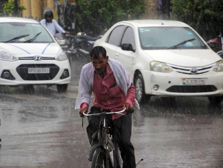 चिपचिप वाली गर्मी से लखनऊवासियों को बारिश की बूंदों ने राहत दी।