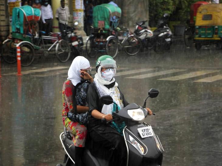 लखनऊ में सोमवार से शुरु हुई धीमी-धीमी बरसात मंगलवार तेज हो गई।