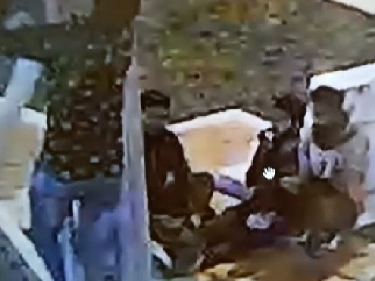 CCTV में कैद हुए चोर - Dainik Bhaskar