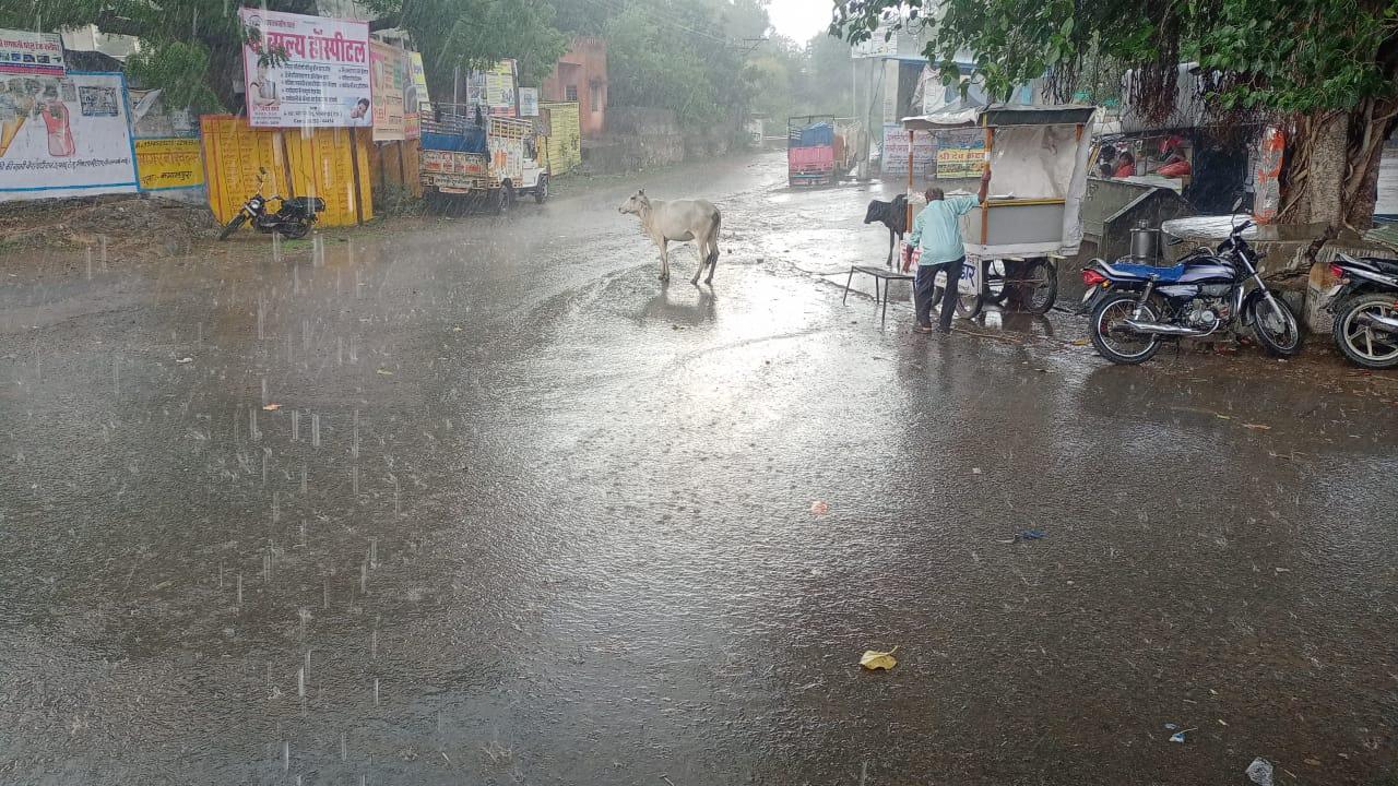 रात को बादलों ने डाला डेरा, सुबह रिमझिम बारिश के साथ मौसम सुहावना|राजस्थान,Rajasthan - Dainik Bhaskar
