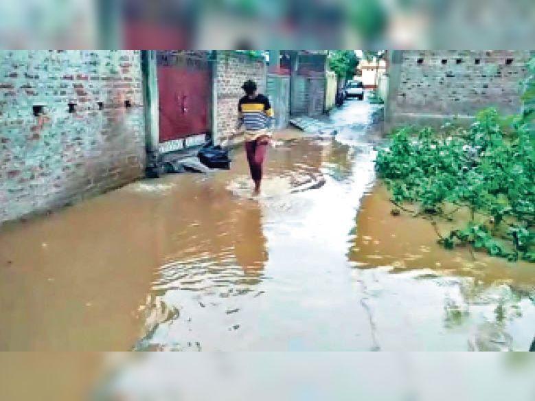 रजा कॉलोनी में जल जमाव। - Dainik Bhaskar