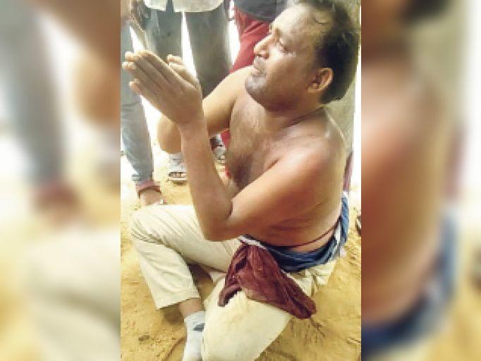 लोगों ने 10 किमी पीछा कर दबोचा, खंभे से बांधकर पीटा, पुलिस को सौंपा|टोंक,Tonk - Dainik Bhaskar