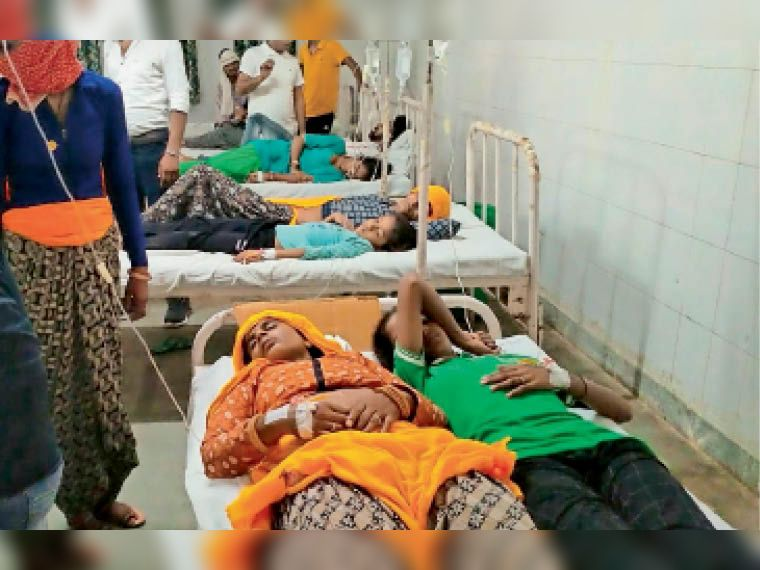दूसरे दिन मरीजों की संख्या 108 पहुंची, एक बेड पर 2 को लिटाया, 21 सिकराय व 2 दौसा रेफर|दौसा,Dausa - Dainik Bhaskar