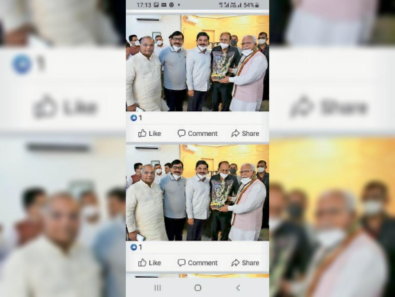 बहादुरगढ़ के उद्योगपति सीएम से टिकरी बॉर्डर पर एक रास्ता खुलवाने की मांग करते। - Dainik Bhaskar