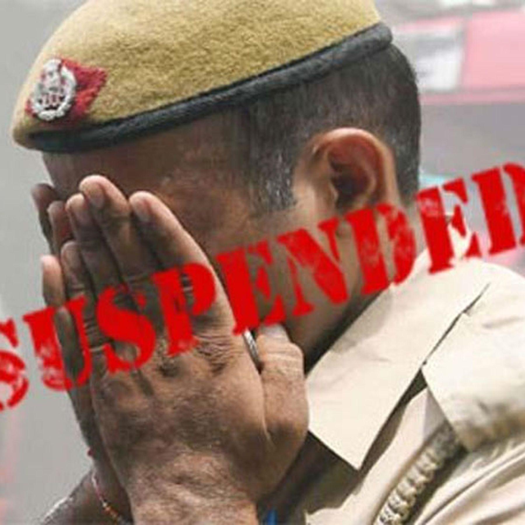 पुलिस वाले पर कार्रवाई की सिंबॉलिक इमेज - Dainik Bhaskar