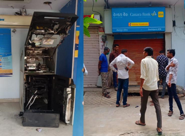 आधी रात को गैस कटर से काटा, तोड़फोड़ कर कैश बॉक्स खोला और फिर ढाई लाख रुपए से ज्यादा नोटों की गडि्डयां ले गए|जयपुर,Jaipur - Dainik Bhaskar