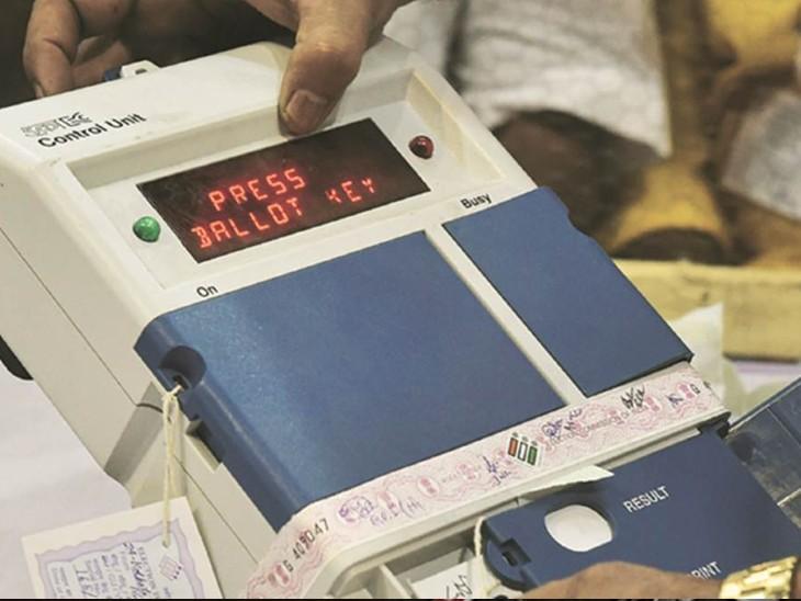 पंचायत चुनाव के लिए EVM मंगाई गई। - Dainik Bhaskar