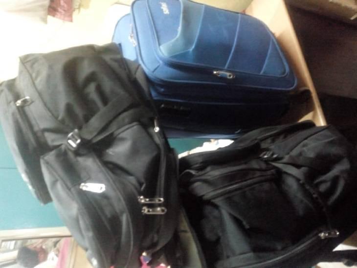 पिट्ठू बैग में छुपा कर रखा था गांजा।