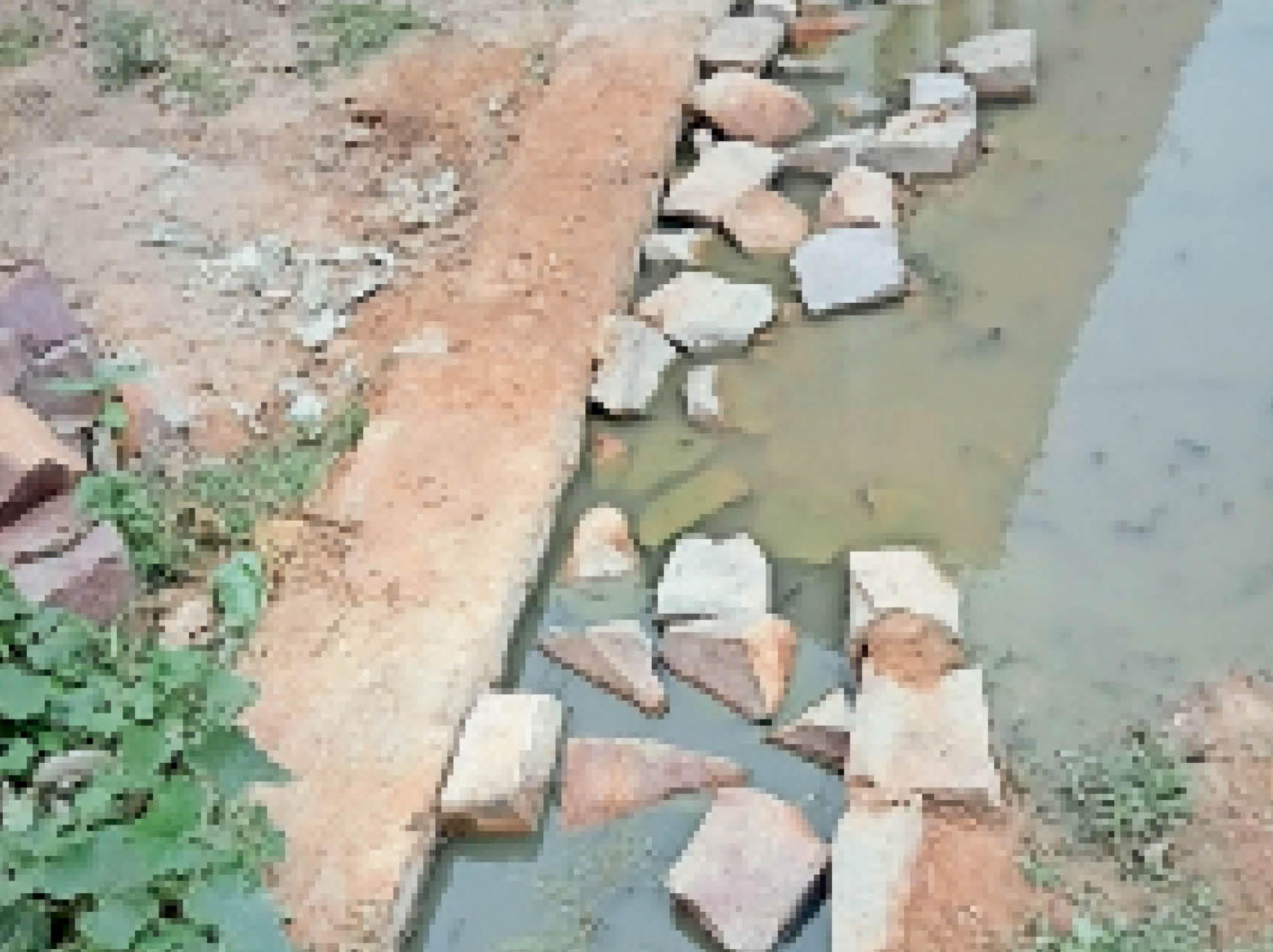 बड़ामलहरा  नाली में कचरा भरा होने से गंदा पानी बाहर बह रहा है। - Dainik Bhaskar
