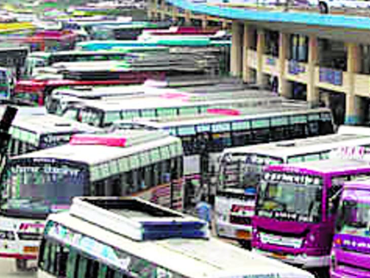 शहर के अंदर और बाहर आज नहीं चल सकेंगी निजी बसें|जयपुर,Jaipur - Dainik Bhaskar