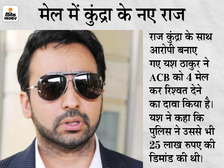 राज कुंद्रा ने गिरफ्तारी से बचने के लिए मुंबई पुलिस को 25 लाख रु. दिए, ACB को मिले 4 मेल में दावा|देश,National - Dainik Bhaskar
