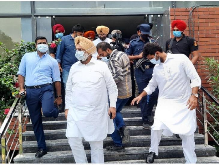 नवजोत सिद्धू की ताजपोशी कार्यक्रम के चलते कैंसिल किया गया, पेगासस जासूसी मामले को लेकर निकाला जाना था मार्च|चंडीगढ़,Chandigarh - Dainik Bhaskar