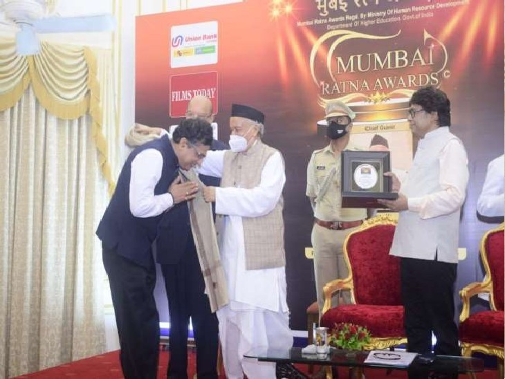 मुंबई इंडियंस के सीईओ रहे आशीष चौहान को यह अवार्ड मुंबई के राजभवन में दिया गया। - Dainik Bhaskar
