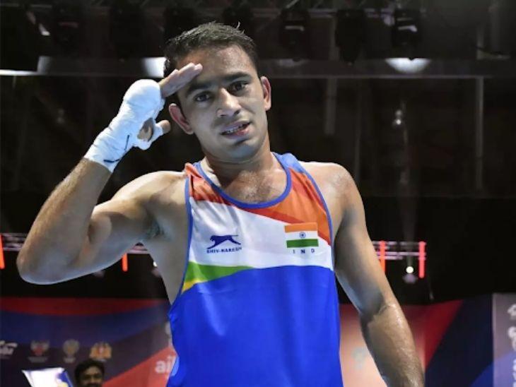 अमित पंधाल को ओलिंपिक में 52 किलोग्राम वेट कैटेगरी में टॉप सीड दी गई है। - Dainik Bhaskar
