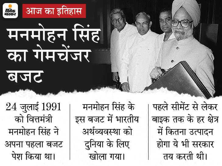 मनमोहन सिंह के बजट ने बदल दी देश की अर्थव्यवस्था की दिशा, उदारीकरण के साथ खत्म हुआ था लाइसेंस राज|देश,National - Dainik Bhaskar