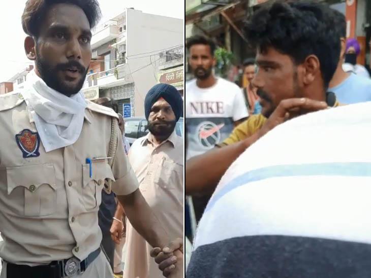 अमृतसर में पुलिस कॉन्स्टेबल ने साथियों के साथ मिलकर मोबाइल छीना, 11 साल के बच्चे को बाइक के साथ 50 मीटर तक घसीटा|पंजाब,Punjab - Dainik Bhaskar