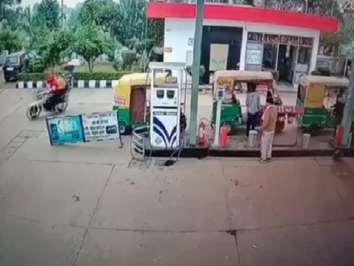 बदमाशों ने पहले बाइक में पेट्रोल फिल कराया फिर सेल्समैन पर कट्टा अड़ाकर लूट ले गए 10 हजार रुपए|ग्वालियर,Gwalior - Dainik Bhaskar