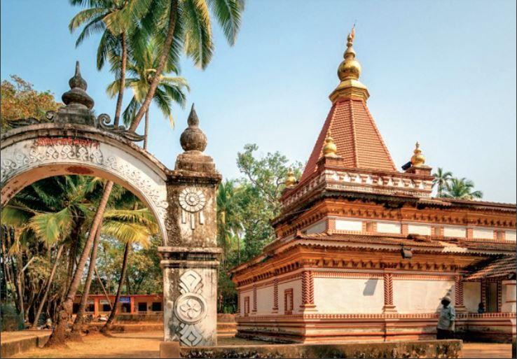 उत्तरी गोवा का प्रसिद्ध श्री माेरजाई मंदिर।