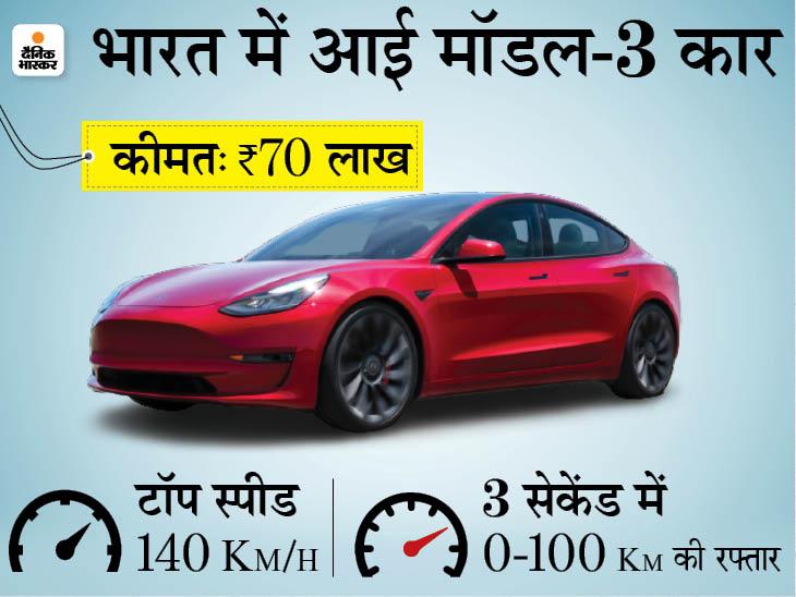 लॉन्चिंग से पहले ही मॉडल 3 की डिलीवरी हुई, 3 सेकेंड में पकड़ लेगी 0 से 100 km/h की रफ्तार|टेक & ऑटो,Tech & Auto - Dainik Bhaskar