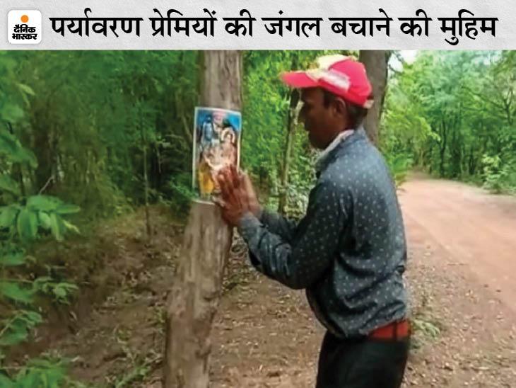 छत्तीसगढ़ में 8 किलोमीटर सड़क बनाने के लिए काटे जाने हैं 2000 पेड़; चिपको आंदोलन के बाद अब पेड़ों पर लगा रहे भोलेनाथ के फोटो देश,National - Dainik Bhaskar