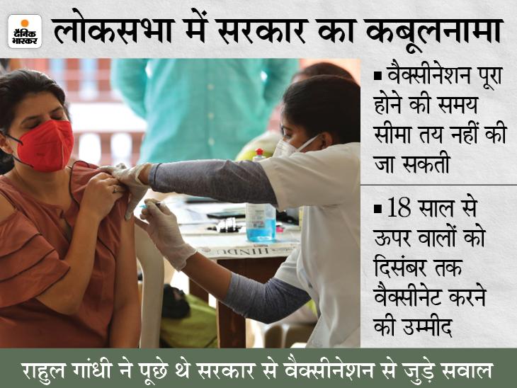 वैक्सीनेशन की कोई समय सीमा तय नहीं, दिसंबर तक 215 करोड़ नहीं केवल 135 करोड़ वैक्सीन डोज ही उपलब्ध हो पाएंगे|देश,National - Dainik Bhaskar
