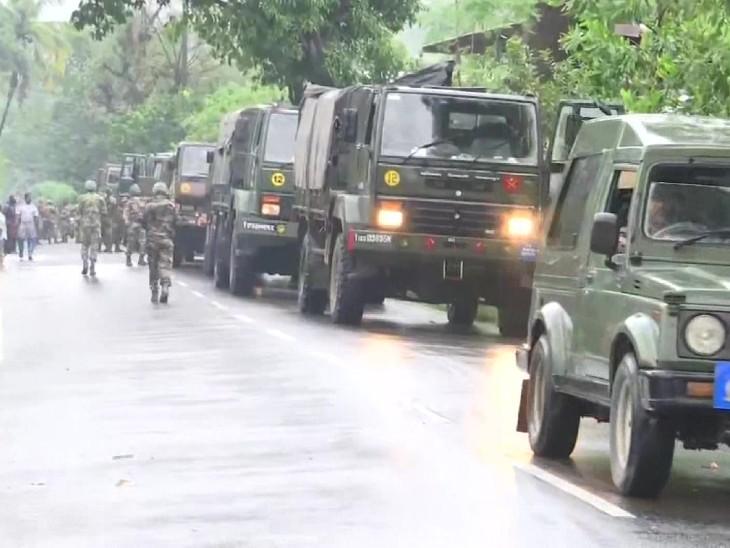 बाढ़ की आशंका के बीच आर्मी की एक टीम रत्नागिरी पहुंची है।
