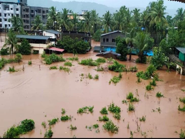 चिखली में गुरुवार को हुई भारी बारिश के बाद मकान डूब गए। यहां से लोगों को दूसरी जगह शिफ्ट किया गया है।