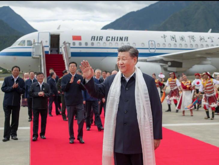राष्ट्रपति बनने के 10 साल बाद तिब्बत आए शी जिनपिंग, भारत के साथ सीमा विवाद के बावजूद अरुणाचल से सटे शहर का दौरा किया|विदेश,International - Dainik Bhaskar