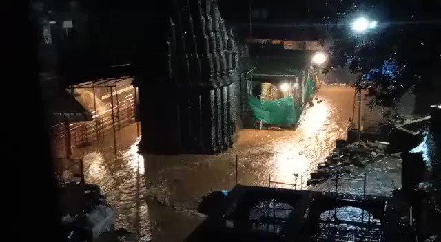 भीमाशंकर ज्योतिर्लिंग का आधा हिस्सा पानी में डूब गया है।