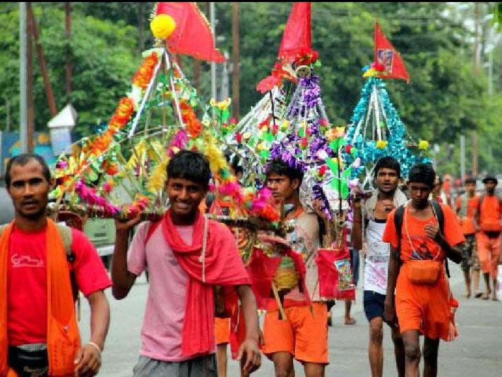 रविवार से सावन माह लग रहा है। इसी के साथ कांवड़ यात्रा शुरू होती है। -फाइल फोटो - Dainik Bhaskar
