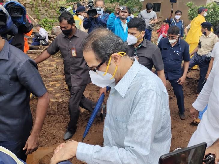 मुख्यमंत्री उद्धव ठाकरे शुक्रवार को अपनी टीम के साथ यहां ग्रामीणों का हाल जानने पहुंचे।