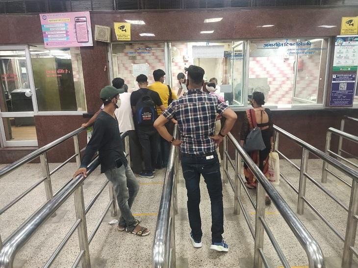जयपुर रेलवे स्टेशन पर यात्रियों के लिए खोले गए करेंट रिजर्वेशन के 2 काउंटर, आखिरी चार्ट बनने से पहले तक दी जा सकेगी टिकट|जयपुर,Jaipur - Dainik Bhaskar