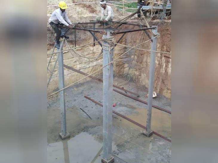 जबलपुर में बिजली ट्रांसमिशन कंपनी ने काम शुरू किया, 10 गुना कम जगह घेरने के साथ 5 मीटर अधिक होगी ऊंचाई|जबलपुर,Jabalpur - Dainik Bhaskar