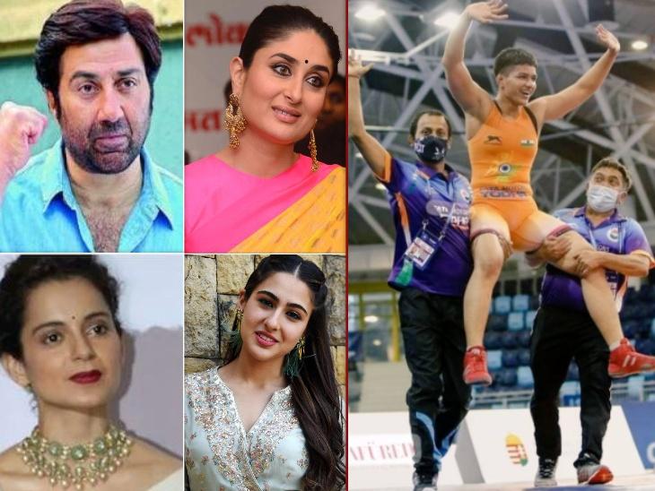 भारत के लिए गोल्ड मेडल लेकर आईं प्रिया मलिक, करीना कपूर, कंगना रनोट, सनी देओल समेत इन सेलेब्स ने दी बधाई|बॉलीवुड,Bollywood - Dainik Bhaskar
