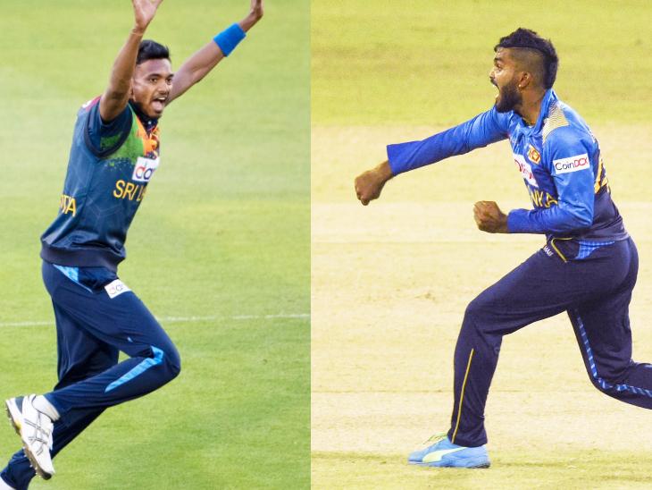श्रीलंका की ओर से दुष्मंथ चमीरा और वानिंदु हसारंगा ने 2-2 विकेट लिए।
