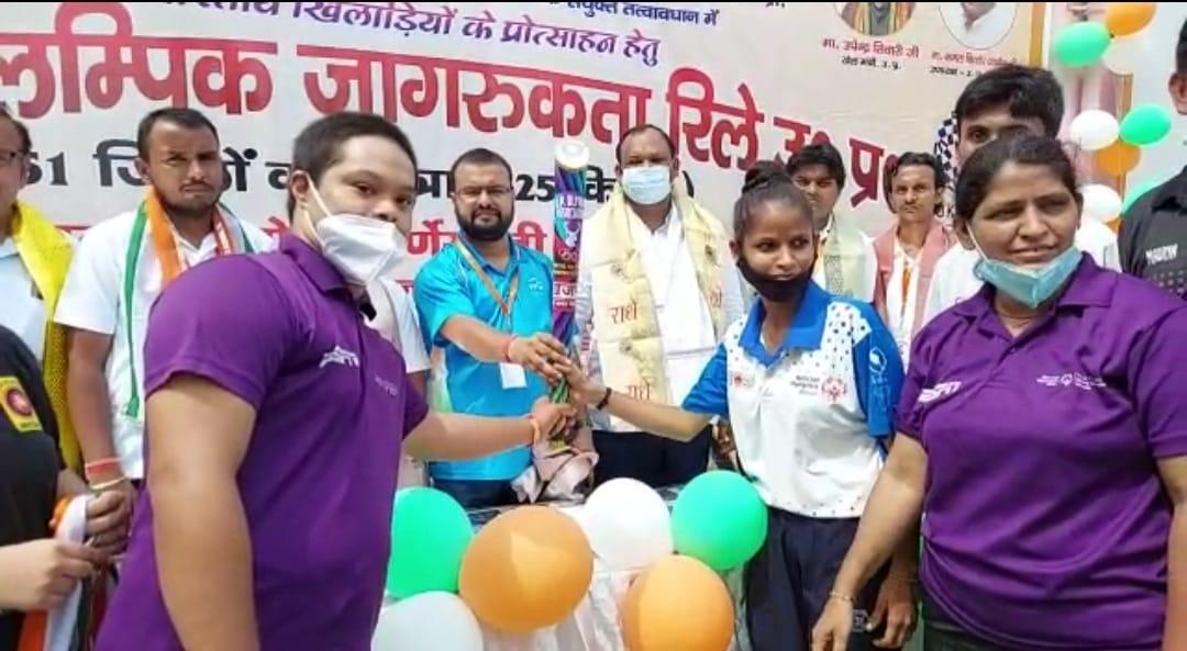 खिलाड़ियों ने किया टीम का स्वागत, 51 जिलों में 3625 किलोमीटर की यात्रा करेगी|मथुरा,Mathura - Dainik Bhaskar