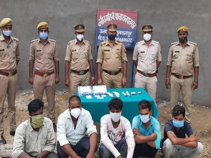 पशु तस्कर गैंग के 10 सदस्यों में से 5 पकड़े गए, अयोध्या के रहने वाले, बीडीसी है गैंग का लीडर सुलतानपुर,Sultanpur - Dainik Bhaskar