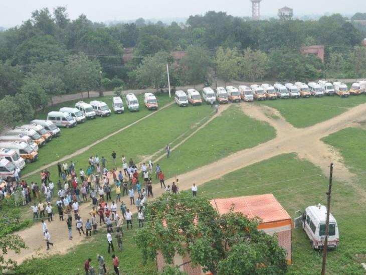 CM योगी के सख्त तेवर के बाद एंबुलेंस संघ के प्रदेश अध्यक्ष समेत 14 कर्मी बर्खास्त, लखनऊ में इमरजेंसी के लिए 8 एंबुलेंस का इंतजाम|लखनऊ,Lucknow - Dainik Bhaskar