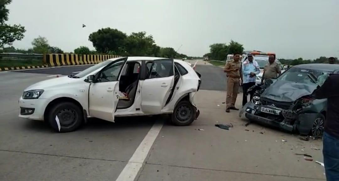 मथुरा में कार सवार ने रोड साइड दरोगा को मारी टक्कर, हालत गंभीर; दूसरे हादसे में युवक की मौत, 8 घायल|मथुरा,Mathura - Dainik Bhaskar