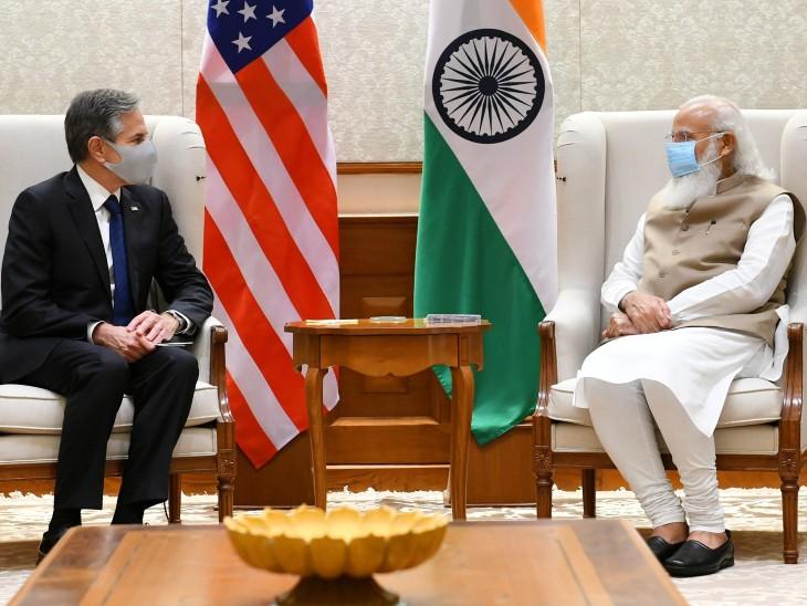 अमेरिकी विदेश मंत्री ने प्रधानमंत्री मोदी से मुलाकात की, बोले- कोरोना को मिलकर हराएंगे|देश,National - Dainik Bhaskar