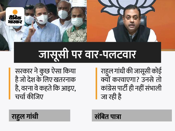 कांग्रेस नेता ने कहा- सरकार हमारे सवाल का जबाव नहीं देती; संबित पात्रा ने कहा- इन लोगों ने सदन में मंत्री के हाथ से दस्तावेज छीने|देश,National - Dainik Bhaskar