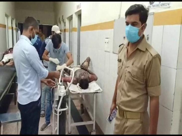 शादी के 53 दिन बाद ससुराल से लौटते समय पेट्रोल डालकर लगा ली आग, लोगों ने अस्पताल भिजवाया झांसी,Jhansi - Dainik Bhaskar
