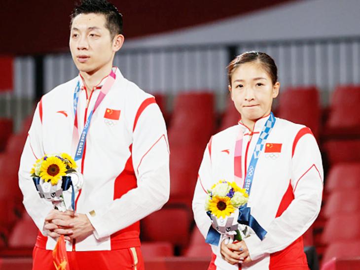 2004 ओलिंपिक के बाद पहली बार किसी दूसरे देश ने गोल्ड जीता, सिल्वर जीतकर भी चीनी खिलाड़ियों ने देश से मांगी माफी टोक्यो ओलिंपिक,Tokyo Olympics - Dainik Bhaskar
