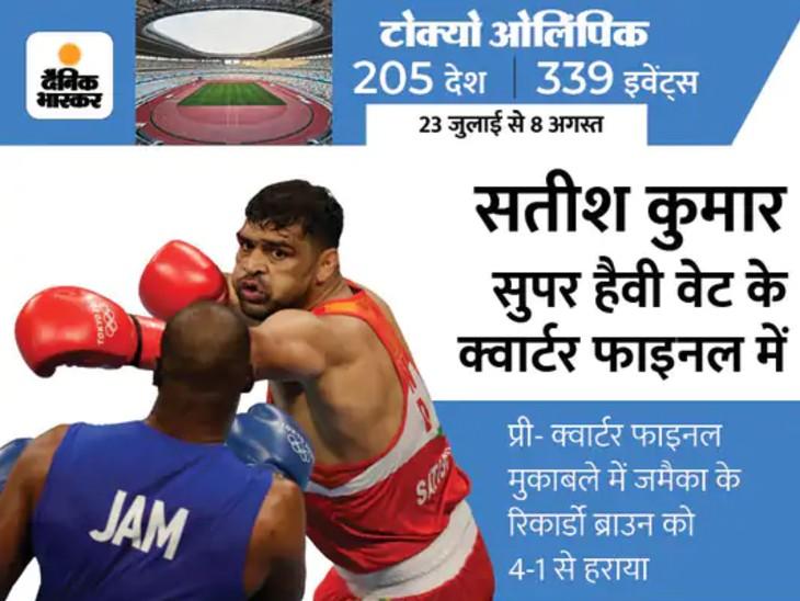 टोक्यो ओलिंपिक में पदक के करीब पहुंचे बुलंदशहर के सतीश; तीन साल पहले ली थी प्रतिज्ञा, कहा था- देश को गोल्ड दिलाऊंगा|मेरठ,Meerut - Dainik Bhaskar